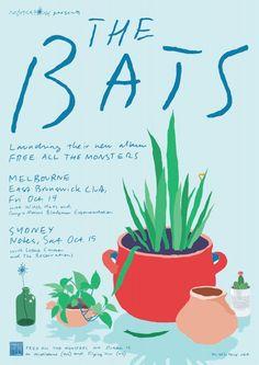 The Bats Australian tour 2011. Artwork by Alex Fregon.
