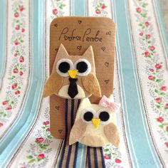 Cute Owl Pacifier Clip by PudraPembe on Etsy