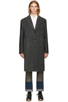 Junya Watanabe - Grey & Black Sleeve Coat
