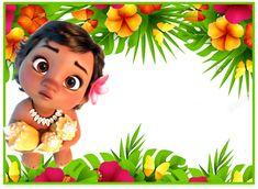 Moana Theme Birthday, Moana Themed Party, 1st Birthday Princess, Birthday Tags, Birthday Cake Toppers, 2nd Birthday Parties, Baby Birthday, Moana Party Invitations, Birthday Invitations
