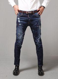 Mens Waxed Skinny Jeans