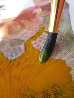 How to mix fluid acrylics, watercolor, ink and oil marker in your paintings