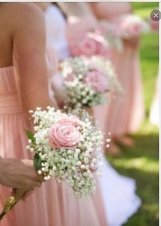 Bridesmaid bouquet gypsophilia and rose