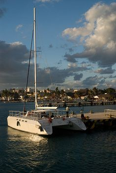 Took a catamaran from Cancun to Isla Mujeres, Mexico - so much fun!