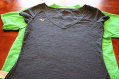 Use your favorite t-shirt to revamp other t-shirts. Great tutorial.