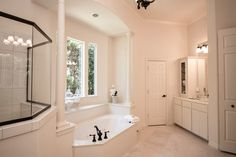 Home Staging, Corner Bathtub, Alcove, House, Home, Homes, Corner Tub, Houses, Staging