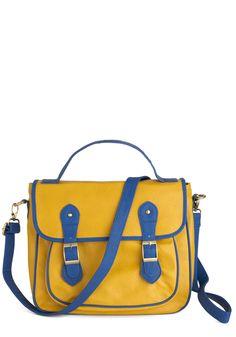 Royal Blue Engagement Bag - Yellow, Blue, Color Block, Buckles, Casual IT'S A THESPIAN BAG!!!!! :D