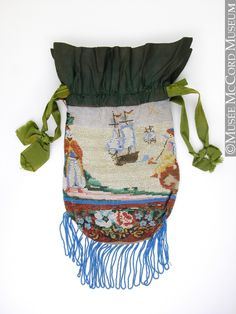 Bag, reticule About 1830, 19th century