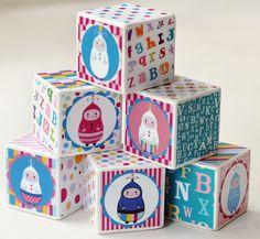 Colorful Alphabet Nursery Blocks by birdsANDblossomsGift on Etsy, $26.00