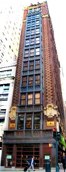 The Library Hotel in NYC - the hotel is based on books and is located in a historic sliver building