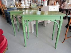 Regency Style FAUX BAMBOO Consoles for under the Mirrors :)