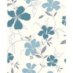 Superfresco Easy - Rapture Aqua/Turquoise Wallpaper - 32-407 - Home Depot Canada