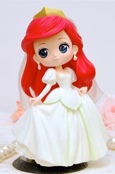 「Q posket Disney Characters - Ariel Dreamy Style -」 Anime Princesse Disney, Disney Princess Dolls, Disney Dolls, Disney Kawaii, Cute Disney, Disney Art, Cute Polymer Clay, Cute Clay, Polymer Clay Dolls