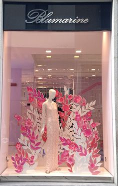 """BLUMARINE,Via della Spiga, Milan,Italy, """"When you're gone,nothing feels right until you return"""", pinned by Ton van der Veer"""