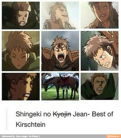 "Jean ""Horse Face"" Kirschtein why don't they try harder on the distance photos. I can draw better than that!"