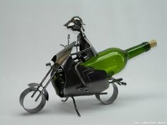 High Quality Genunie Hand Made Caddy Motocyclist Metal Wine Bottle Holder Free Ship. ZB725-ITE by ThreeStar. $46.95. One Of The Best And Gorgeous Imports Available At The Imported Gift Depot.. Design Was Stylish And Innovative Satisfaction Ensured.. Manufactured At The Highest Quality Available.. High Quality Genunie Hand Made Caddy Motocyclist Metal Wine Bottle Holder Free Ship.. It Makes A Great Gift For Any Occassion and Someone Special.. High Quality Genunie Hand Made Caddy...