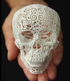 3D Printed Filligre Skull | Fav - cool stuff every single day