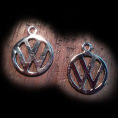Sterling silver VW logo earrings made to order. Individually hand made. These just need to have the solid silver hooks added to make them complete.