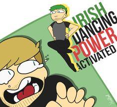 Irish dancing power - JacksSepticEye and Pewdiepie by TheLizzyLiz.deviantart.com on @DeviantArt