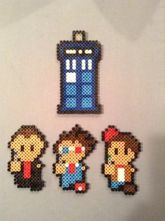 Doctor Who Perler Bead Figures by AshMoonDesigns on Etsy, $3.00 https://www.etsy.com/shop/AshMoonDesigns