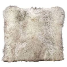 OH Winter Faux Fur Arctic Fox Cushion - 45x45cm (110 CAD) ❤ liked on Polyvore featuring home, home decor, throw pillows, grey, grey home decor, square throw pillows, gray throw pillows, patterned throw pillows and textured throw pillows