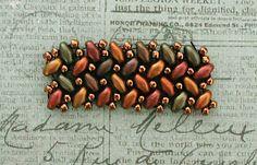 """15/0 seed beads Miyuki """"Dark Bronze"""" (457) 11/0 seed beads Miyuki """"Dark Bronze"""" (457) Half Tila beads """"Matte Metallic Dark Bronze"""" (HT..."""