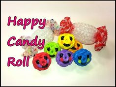 3-D Happy Candy Roll Tutorial by feelinspiffy (Rainbow Loom) - YouTube