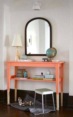 Love the salmon color blocking!