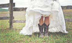 Boots and brides. Nothing better!  http://www.countryoutfitter.com/style/real-country-wedding-courtny-cordosa/