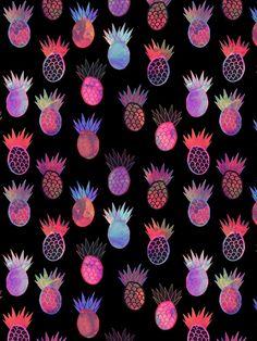 Tutti Frutti Black Art Print