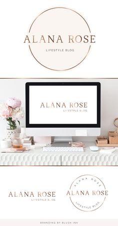 Branding Kit, Branding Design, Photography Logo Design, Lifestyle Blog, Feminine, Place Card Holders, Ink, Women's, Photography Logos