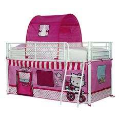 Hello Kitty Bed Tent Pink Canopy Girls Bedroom Sleep Single Kids Mid Sleeper for sale Hello Kitty Zimmer, Hello Kitty Haus, Hello Kitty Bedroom, Kids Mid Sleeper, Mid Sleeper Bed, Hello Kitty Merchandise, Umbrella Stroller, Bed Tent, Little Girl Rooms