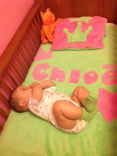 La cobija de la cuna de Chloë