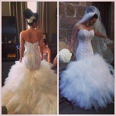 Charming Mermaid Wedding Dress,Lace Wedding Dress,Mermaid Bridal Dress ,Bridal Gown ,Wedding Dress Plus Size ,Wedding Dress Costume ,Wedding Dress for Bride,Bridal Dress