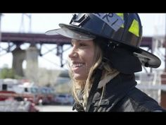 Model does FDNY Training  (Lauren Berlingeri) Check her out on Woman vs Workout. It's awesome ---- amazing things she conquers!!!