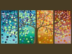 tree four seasons painting - Bing Images