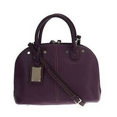 Tignanello Handbag tignanello purpl pebble leather domed ...