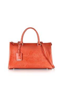 Jil+Sander+Medium+Jil+Bag+Metallic+Leather+Satchel