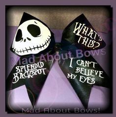 Exclusive to Mad About Bows --    Nightmare Before Christmas #CheerBow by MadAboutBows1 #JackSkellington