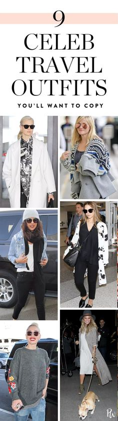 9 Perfect Winter Travel Outfits from Gwen Stefani to Reese Witherspoon #purewow #travel #style #chrissy teigen #fashion #celebrity #outfit ideas