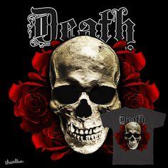 Skull Roses Dead on Threadless