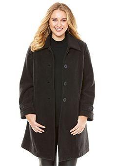 af1c8f1f79a7 Roamans Women s Plus Size Plush Fleece Jacket Black