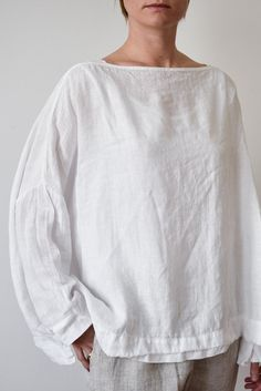 Metta - Sailor Boxy Top - Linen