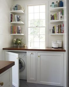 Hidden Laundry Room - Design photos, ideas and inspiration. Amazing gallery of interior design and decorating ideas of Hidden Laundry Room in laundry/mudrooms by elite interior designers - Page 1 Laundry In Kitchen, Laundry Closet, Laundry Room Organization, Laundry Room Design, Old Kitchen, Laundry In Bathroom, Laundry Rooms, Organization Ideas, Brass Kitchen