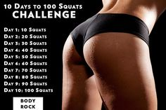 10 Day to 100 Squats Challenge
