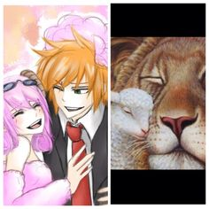 """""""And so the lion fell in love with the lamb.."""" Loke x Aries  (Fairytail)"""