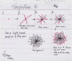 Tangleflake 4 by sheridanwild, via Flickr