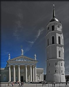 The Cathedral of Vilnius in Vilnius Lithuania