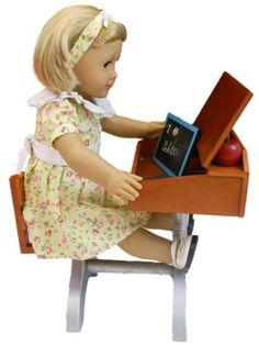 "1930 Style School Desk Plus Accessories for American Girl 18"" Dolls"