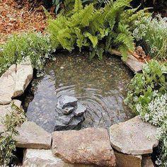 Lago fácil com Pneu - Faça em seu jardim !!! http://artefacilnaweb.blogspot.com.br/2014/03/lagoa-com-pneu.html